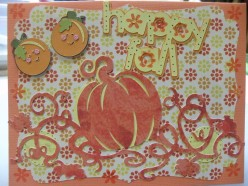 Fall colors captured on a homemade Cricut card
