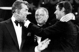 Now famous reunion of Jerry Lewis and Dean Martin by Frank Sinatra...it happened on the telethon!