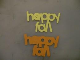 Happy Fall cutout