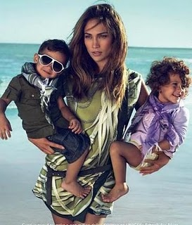 Max and Emme Anthony and Mom Jennifer Lopez