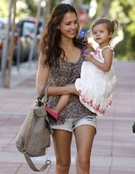 Honor Maria Warren and Mom Jessica Alba