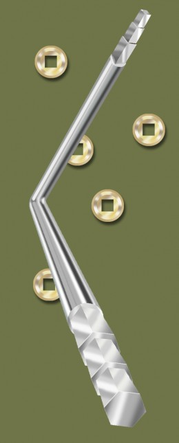 Figure 2 - Seat Wrench, with seat nuts scattered around. Painted in PhotoShop by the author