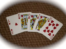"""The Royal Flush - you're not likely to see one of these, but home game players """"try"""" for it anyway."""