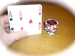 Most home game players find having aces before the flop a difficult hand to play.