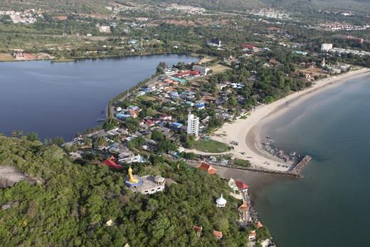Khao Tao Reservoir and Khao Tao Beach, Thailand