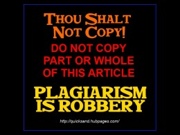 Copying Is Forbidden - Plagiarism Is Robbery - Do Not Copy