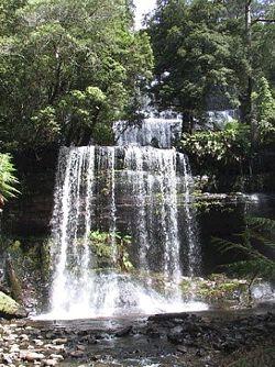 Russel Falls in Tasmania