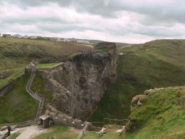 A view of part of Tintagel Castle