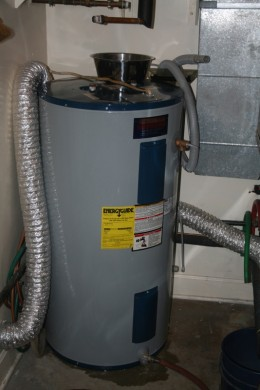 The old leaking heater