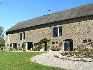 The Barn was completed using stone obtained from a medieval castle that once stood on the site, and built in a traditional French style. It lies in an acre of land reached by a lane serving just the barn and one neighbour.
