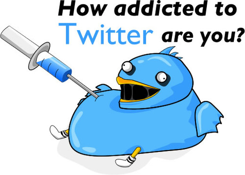 a cartoon i found on the web for Twitter addiction.