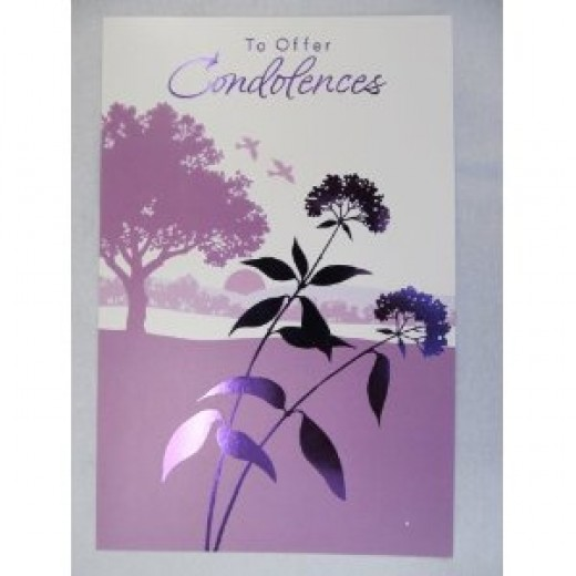 A sympathy card with a short note is often all that's needed to express sympathy for a death