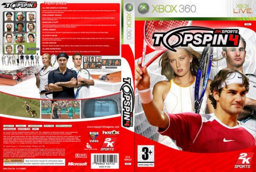 2k Sports Top Spin 4 Xbox 360 edition