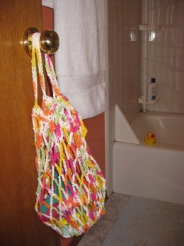 crochet bath tidy