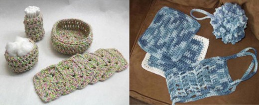 Crochet scrubbies and face pads