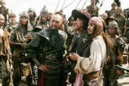 I KNOW THAT THIS IS A SCENE FROM 'PIRATES OF THE CARRIBEAN,' WITH JOHNNY DEEP, BUT I HAD NO PHOTO OF POKO, THE PIRATE.