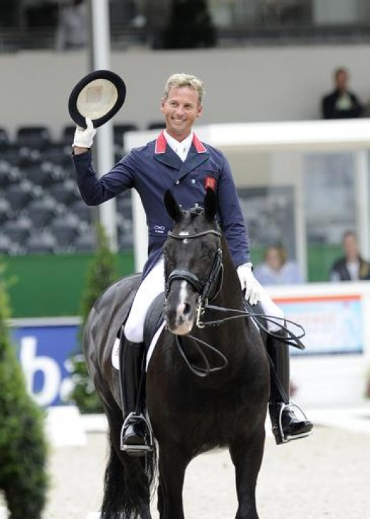 Carl Hester winning gold at the European Championships in 2011