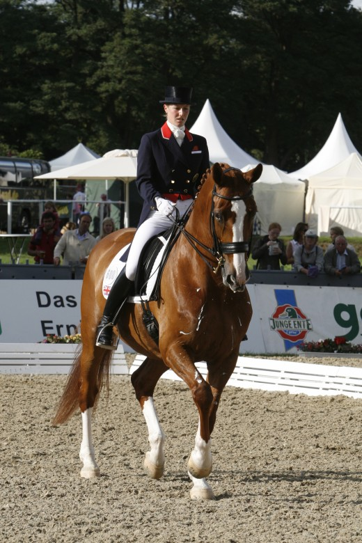 Laura Bechtolsheimer riding at the European Dressage and Jumping Championships at Windsor in 2009