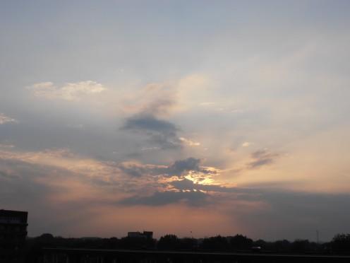 Sundown above Hoorn