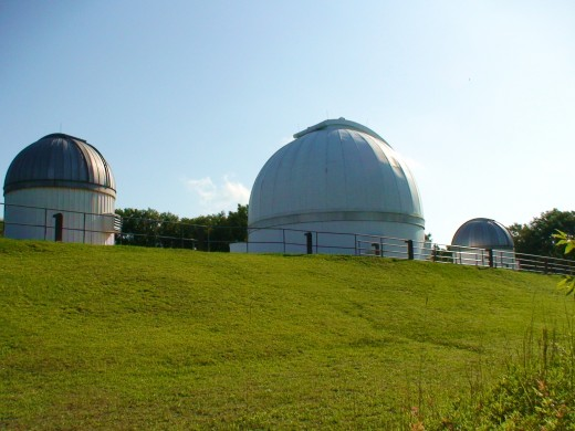 Astronomers are worried about the encrouchment of city lights on their view of night skies at observatories like tthe George Observatory, seen here, just south of Houston.