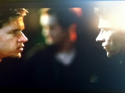 Jason stares Bill down after having taken Eric to task.