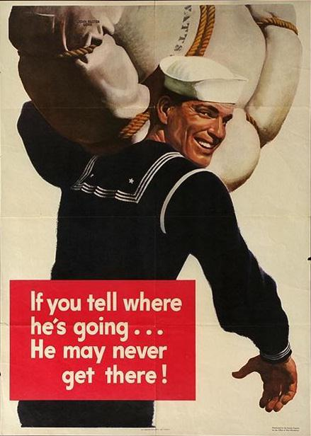 A confident smile on the face of a brave serviceman, or in this case, a Navy man. Not many recruiting posters depicted soldiers with frowns, but smiles.