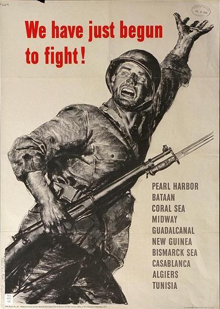 The face of determination, courage and never-say-die is seen on this American serviceman. This poster alone sparked the patriotism of many Americans to keep the war effort strong.