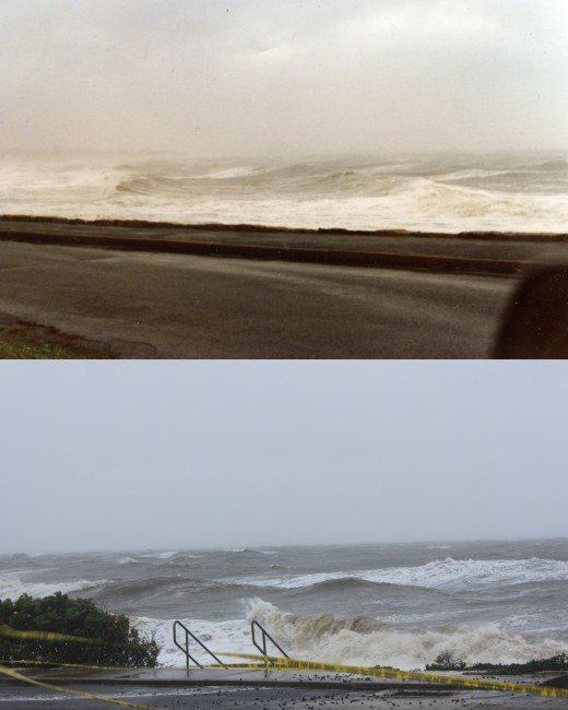 waves in Gloria (top) and Irene (bottom)