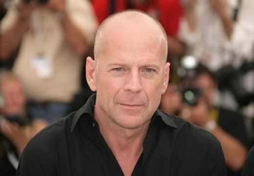 Bruce Willis bald hair.