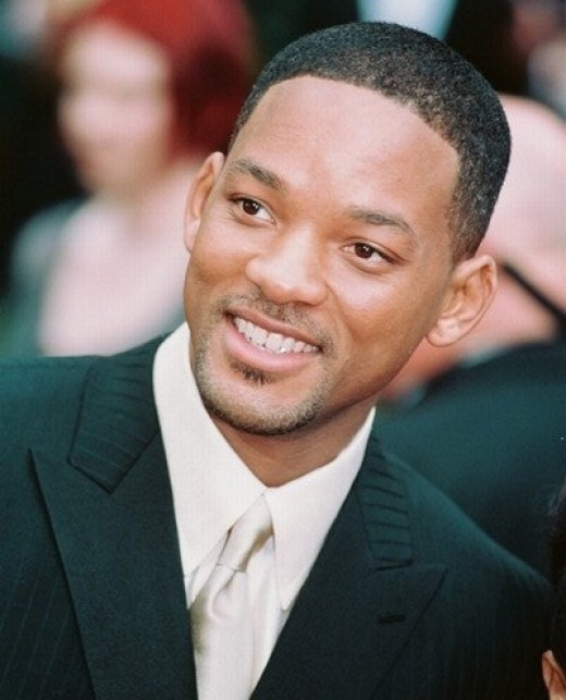 Will Smith buzz cut.
