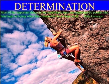 determination is the key for self-improvement.