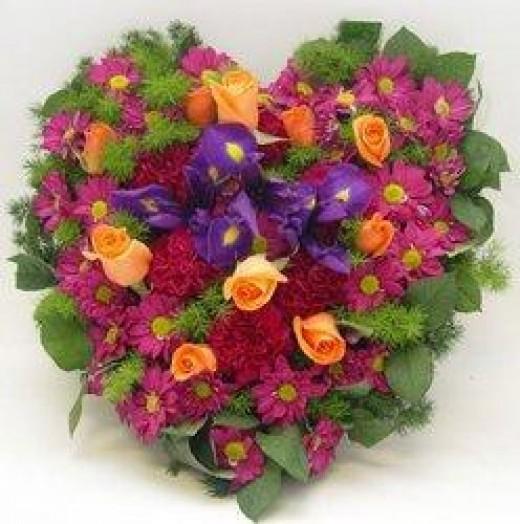 Saint Valentines Day wreath
