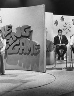THE DATING GAME set. See the bachelors to the right? Talk about nerves, stress, this was the epitome of stressful places.