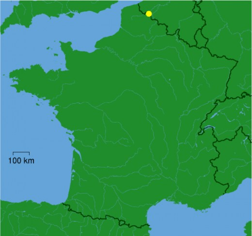 Map location of Tourcoing, France