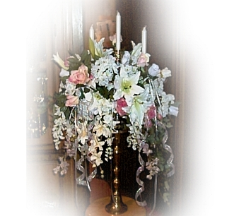 (Floral Wedding Designs by ladybluewriter) Love lights up the world!