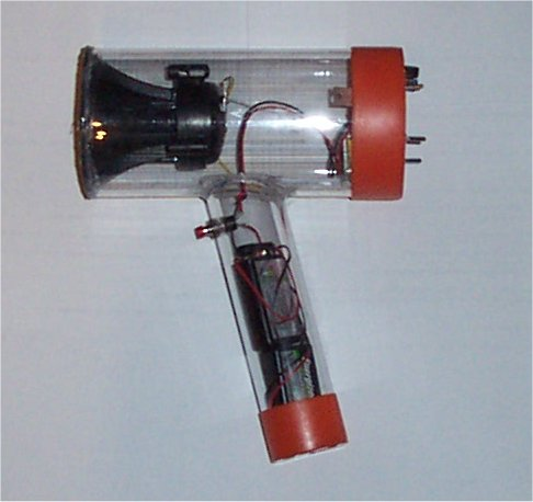 Sonic sound gun being experimented with. It will create   a sound that will render the person who the weapon is aimed at while not harming the one using the weapon.