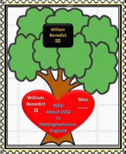 Family Tree: William Benedict II and Wife wed in 1552