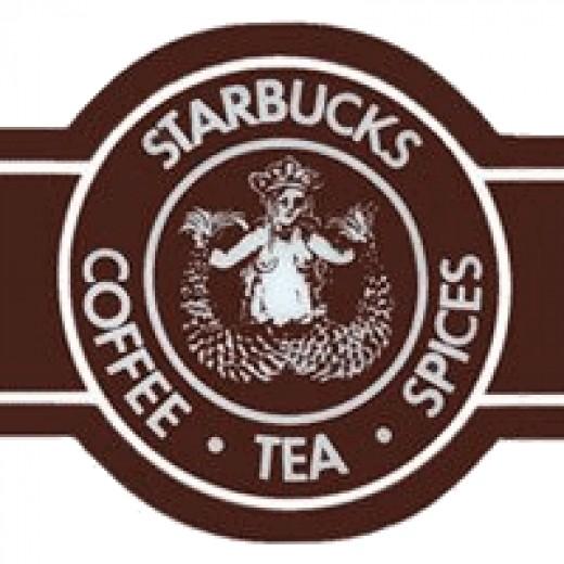 The original Starbucks logo and name