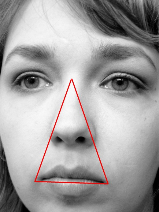 danger triangle of the face aka The Triangle of Death