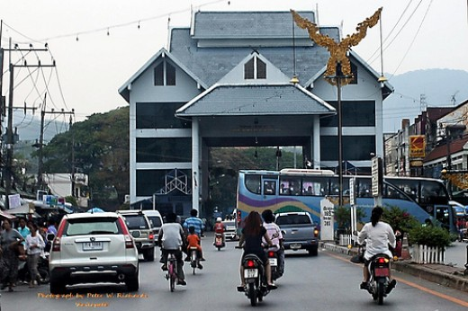 This is the ultimate destination: the Thai border post