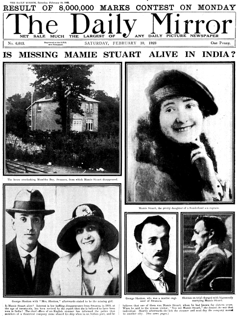 Even three years after her disappearance, Mamie Stuart was still making headlines