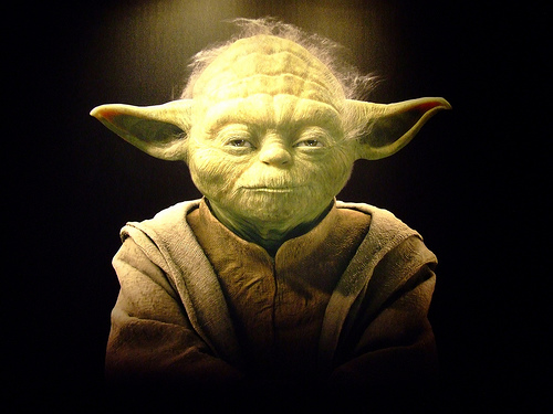 Yoda represents the wise old man archetype