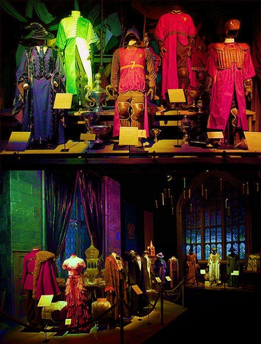 Costumes from the Harry Potter exhibition at the museum of science.
