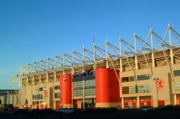 Cellnet Riverside Stadium, home of Middlesbrough Football Club - on their way back up to the Premiership? We can but hope!