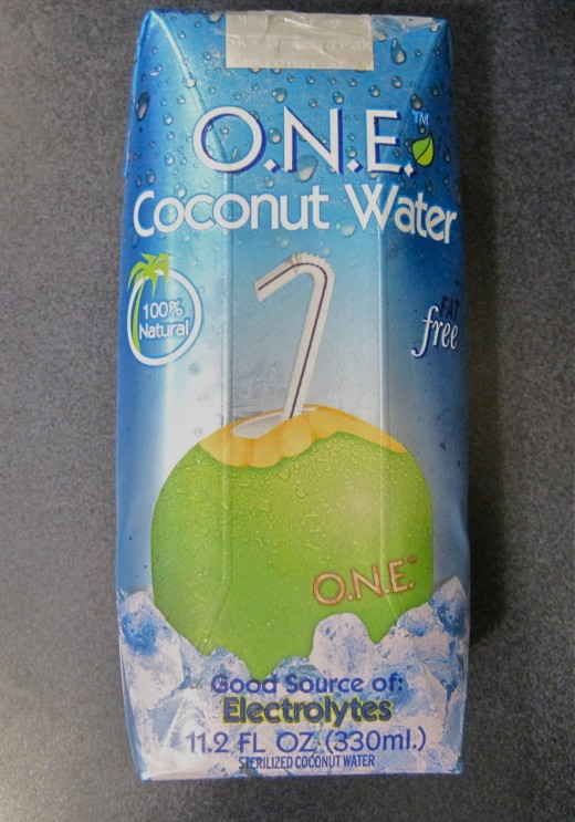 All natural coconut water is refreshing!