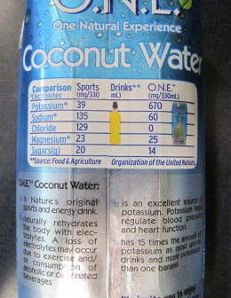 Coconut water is filled with minerals.