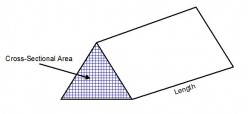 Volumes of triangular shaped prisms. How to work out the volume of a triangular prism.