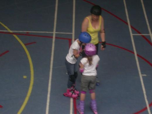Lyndsey learned to roller skate.