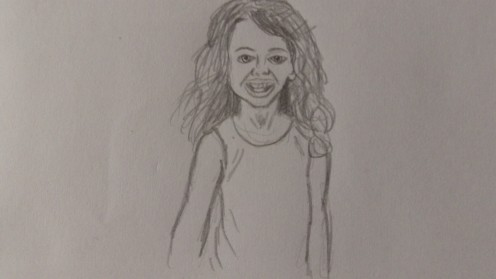A Pencil sketch of my daughter.