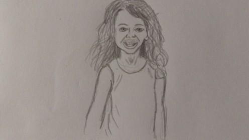 A Pencil sketch of my daughter.